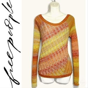 Free People Pullover Scoop Neck Cable Knit Sz M